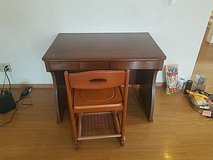 Small work desk chair in Okinawa, Japan