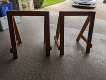 Wood sawhorses -set of two, excellent condition in The Woodlands, Texas