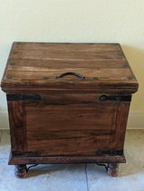 Acacia Solid Wood (Storage) Trunk Table excellent condition in Kingwood, Texas