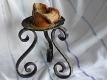 Candle-with old iron candle-holder, massiv metall-item in Ramstein, Germany