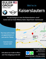 New BMW / MINI Military Sales location - Euler Group Military Sales in Wiesbaden, GE