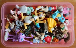 Box full of small figures in Okinawa, Japan