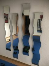 4pc. Wavy Wall Decor Mirrors in Ramstein, Germany