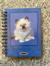 Cute and Fuzzy Kitten hard cover Address Book and and Inspiration notebook in Okinawa, Japan