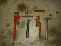 """18"""" wrench from ace hardware - 14"""" ridgid wrench & 3 hammers in Fort Knox, Kentucky"""