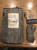 New Crossbody Bag made from recycled military tents by Vintage Addiction in Naperville, Illinois