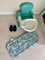 stroller cover/ baby crocs size 4/ feeding chair in Okinawa, Japan