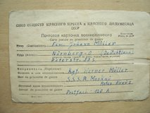 Prisoner of War Letter from Russia in Ramstein, Germany