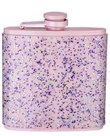 NEW PINK GLITTER HIPFLASK METSL WITH SILICONE SLEEVE in Lakenheath, UK