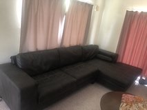FREE black sectional couch- Need gone by Thursday in Okinawa, Japan