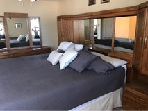 oak bedroom set, bed NOT included in Travis AFB, California