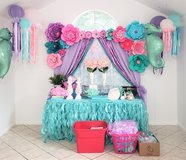 Baby Shower Cake Table Backdrop and Decorations in Houston, Texas