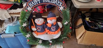 Chicago Bears Wreath in Algonquin, Illinois