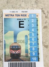 Commuting by Train? Metra 10-ride Zone A-E in Westmont, Illinois