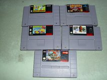 five super nintendo games in Fort Knox, Kentucky