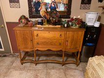 Antique Buffet w/ wood wheels in Alamogordo, New Mexico