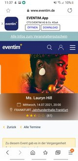 Lauryn Hill 14.07.2021 2Tickets in Ramstein, Germany