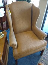 Dark Gold Wing Back Chair in Chicago, Illinois