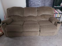 2 Recliner Couch light brown in Fort Polk, Louisiana