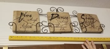 Dance Live, Sing  wall decor in Manhattan, Kansas