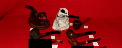 Vintage Tobacco Pipe Collection Carved  Polynesian Girl Feather Rock & More in St. Charles, Illinois