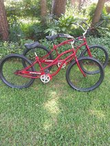 His & her oversized bike bicycle Cruisers in Houston, Texas