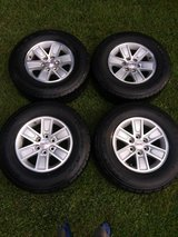 "GMC Rims - 17"" with like new tires & locking lugnuts in Houston, Texas"
