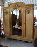 beautiful Art Nouveau armoire with facetted mirror in Wiesbaden, GE