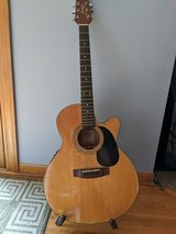 Jasmine acoustic guitar and stand in Naperville, Illinois