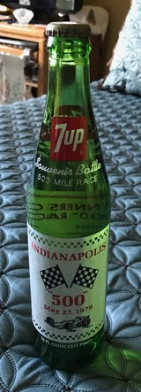 Souvenir '79 Indy 500 7-Up Bottle in Chicago, Illinois