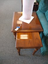 Double Wood End Tables in St. Charles, Illinois