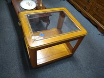 Oak with Glass End Table in St. Charles, Illinois