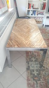 Vintage marble and chrome table in Stuttgart, GE