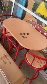 Red Table and Chairs (New) in Fort Leonard Wood, Missouri