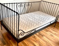 Metal bed frame and mattress in Spangdahlem, Germany