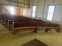 Antique Oak Church pews. in Dover, Tennessee