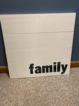 Wooden 'Family' Sign in Naperville, Illinois