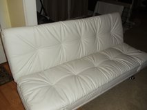 White Sofa Sleeper Faux Leather in Fort Riley, Kansas