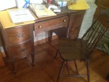 Vintage Dark Wood Desk and chair in Naperville, Illinois