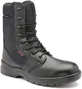 Combat/Army Style Boot in Black Leather UK 10 in Lakenheath, UK