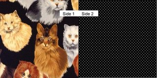 Face Masks 100% Cotton Reversible with Nose Wire - Cats on Black in Camp Lejeune, North Carolina
