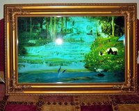 """25.5"""" vintage motion light-up waterfall framed picture - sounds of water and birds in Alamogordo, New Mexico"""
