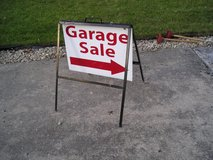 Garage Sale Sign with Stand in Naperville, Illinois