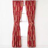 NEW Chaps Telluride Curtain Panels Drapes Red Blue Flower Floral Bedding Decor Set in Kingwood, Texas