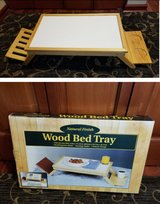 Wood Bed Tray with extras! Beverage Holder & Book and Magazine Holder in Naperville, Illinois