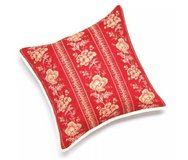 Chaps Telluride Floral Bow Throw Pillow Red Blue Flower Bedding Set Rustic Country in Kingwood, Texas