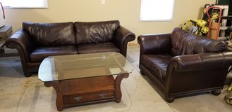 Leather couch set in Naperville, Illinois