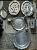 9 peices of silver plate & pewter in Travis AFB, California