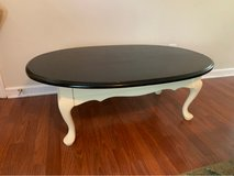 coffee table freshly painted black top cream bottom in Fort Campbell, Kentucky