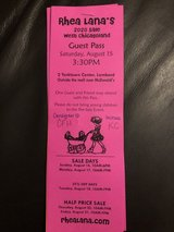 Guest Pass to Rhea Lana Children's Resale in Naperville, Illinois